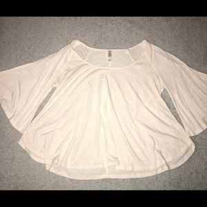 Cream 3/4 bell sleeved blouse